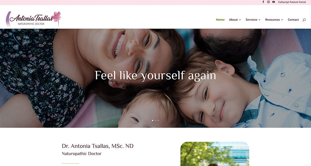New website for a Toronto Naturopathic doctor