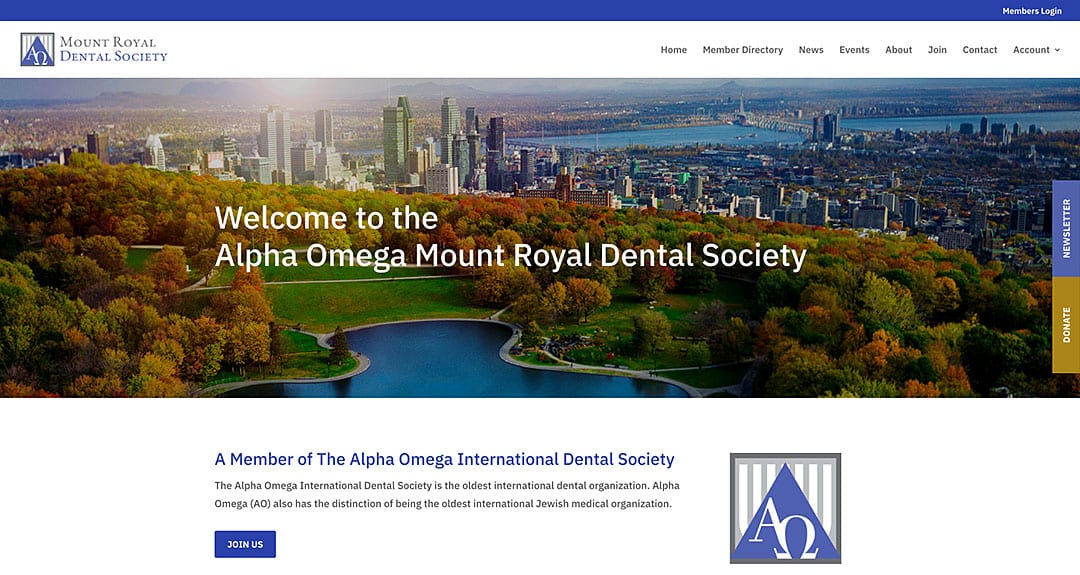 Mount Royal Dental Society launches website by YWD