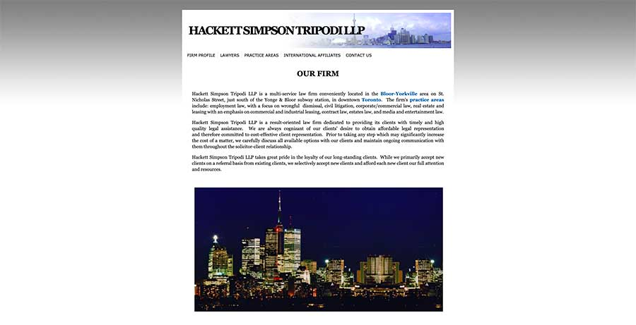 Hackett Simpson Tripodi - before