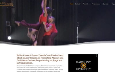 Ballet Creole in Toronto launches a website by Your Web Department