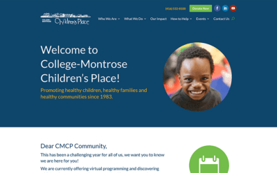 New conversion to WordPress: College-Montrose Children's Place