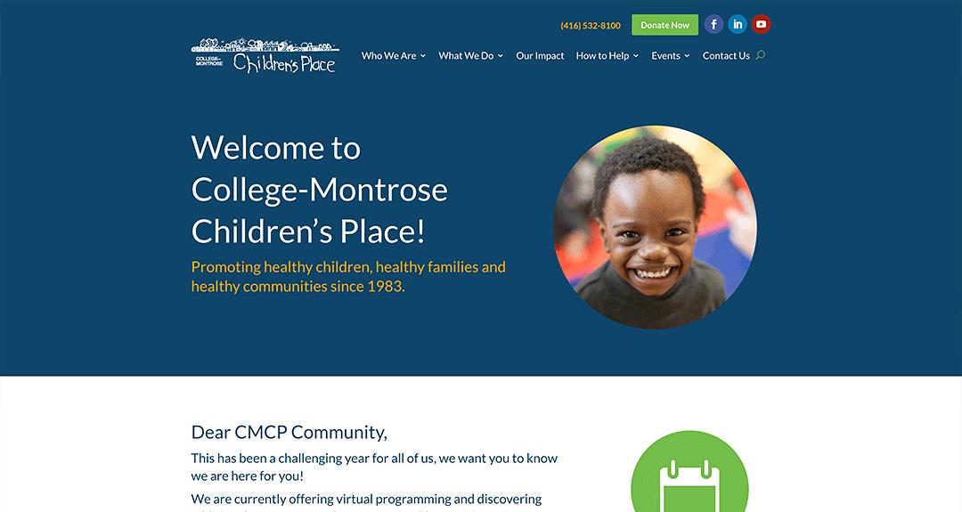 New conversion to WordPress: College-Montrose Children's Place