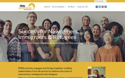 New website redesign & conversion to WordPress: Peel Newcomer Strategy Group