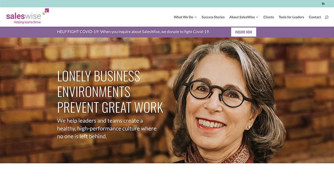 New website redesign & conversion to WordPress: SalesWise