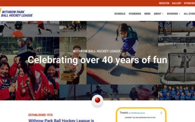 New website redesign & conversion to WordPress: Withrow Park Ball Hockey League