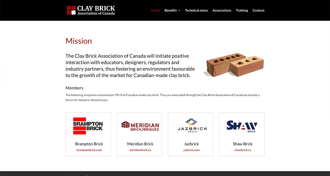 New conversion to WordPress: Clay Brick Association of Canada