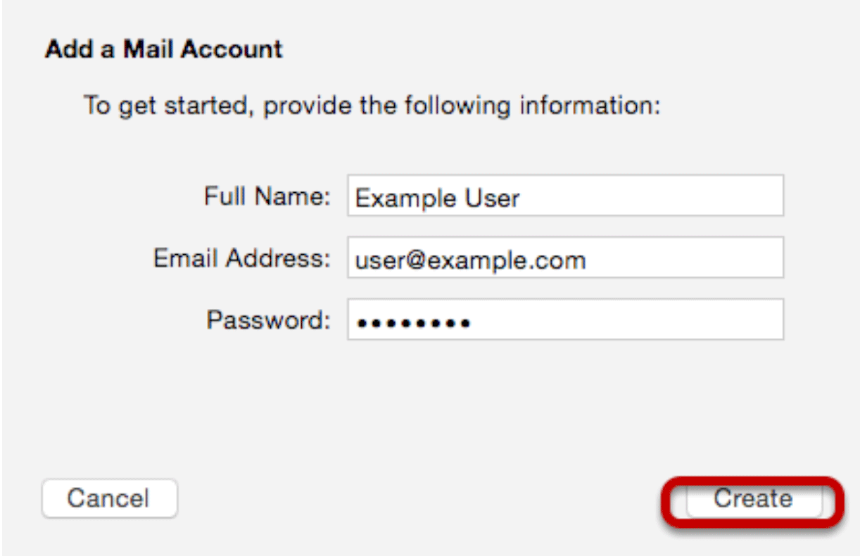 Setting up email on Mac Mail