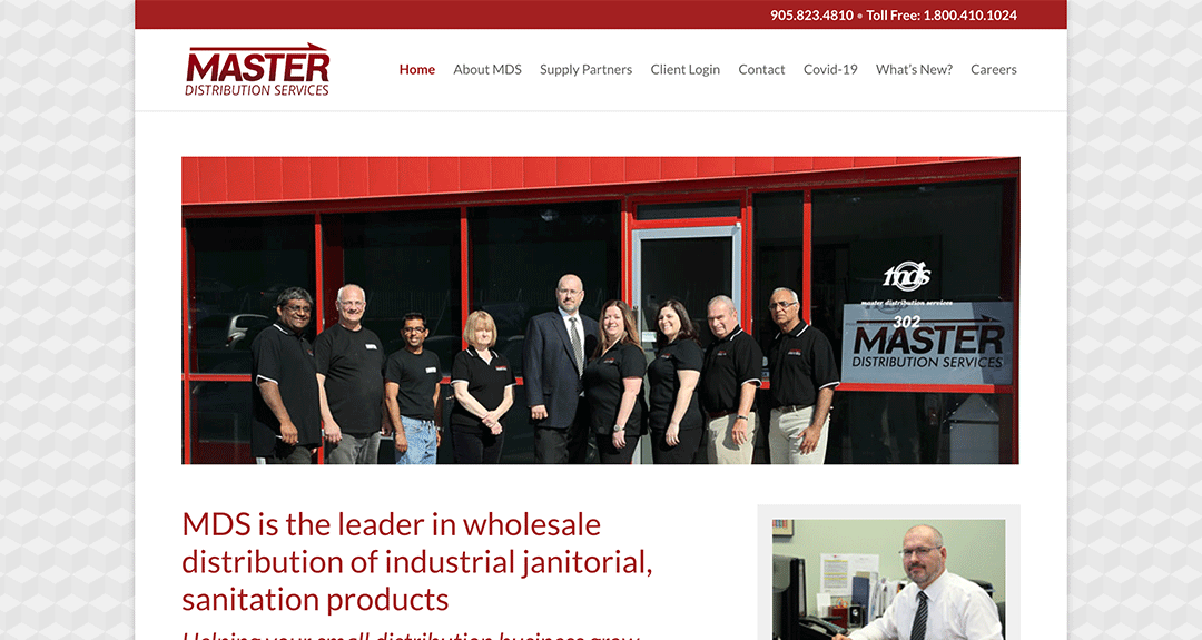 New website redesign and conversion to WordPress: Master Distribution Services