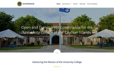 University College of the Cayman Islands Governance Office gets a new website