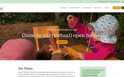 New website redesign and conversion to WordPress: London Waldorf School