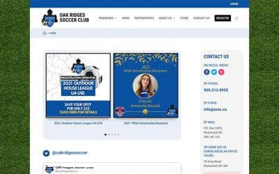 New website redesign and conversion to WordPress: Oak Ridges Soccer Club