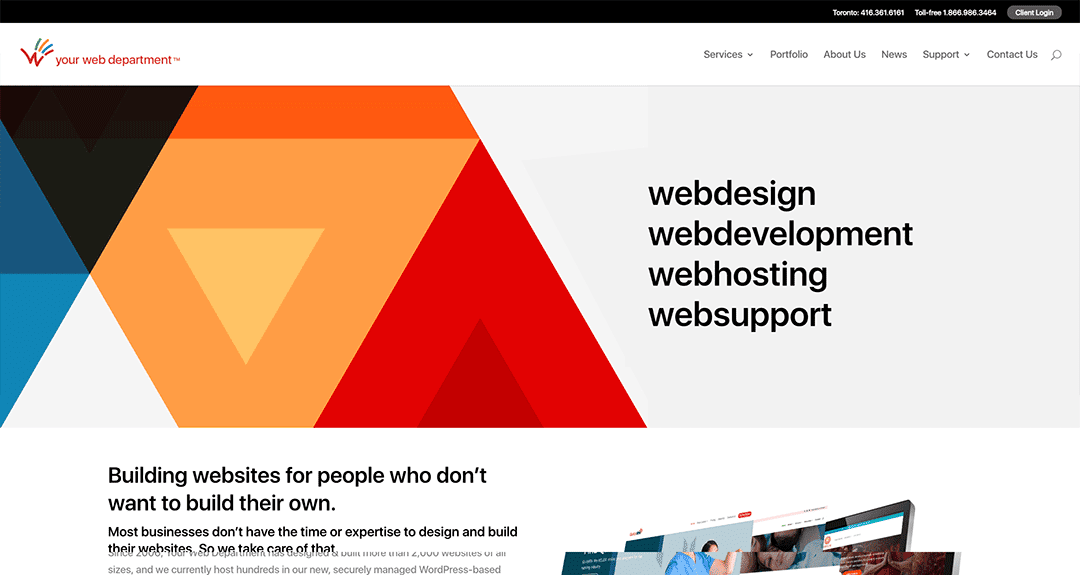 Welcome to our redesigned website
