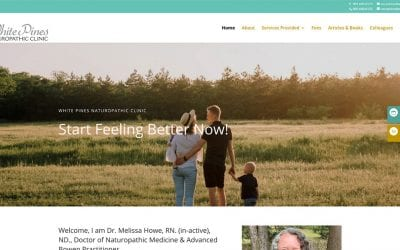 New website redesign and conversion to WordPress: White Pines Clinic